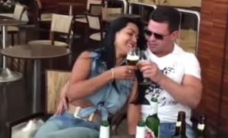 """Sertanejo Eduardo Costa aparece ao lado da """"mulher de voz grossa"""""""