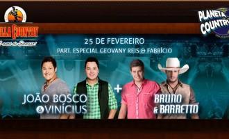 João Bosco & Vinícius e Bruno & Barretto se encontram na Villa Country