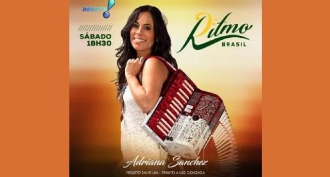 Música/Dia das Mães: Cantora e sanfoneira Adriana Sanchez participa de matéria especial no programa Ritmo Brasil neste sábado (13)