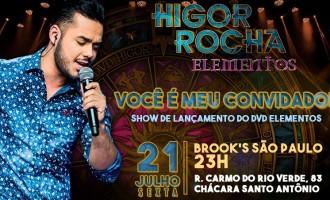 """Higor Rocha anuncia lançamento do DVD """"Elementos"""" na Brooks, em São Paulo"""