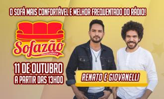 Renato & Giovanelli participam do programa Sofazão da rádio Transamérica