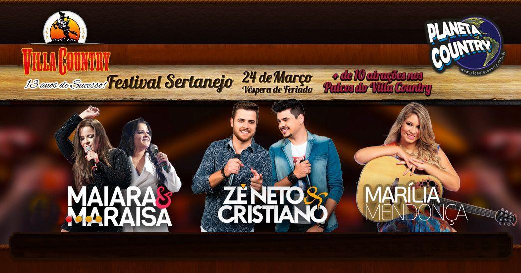 Villa Country traz para 8º Festival Sertanejo Zé Neto & Cristiano, Maiara & Maraísa e Marília Mendonça 41
