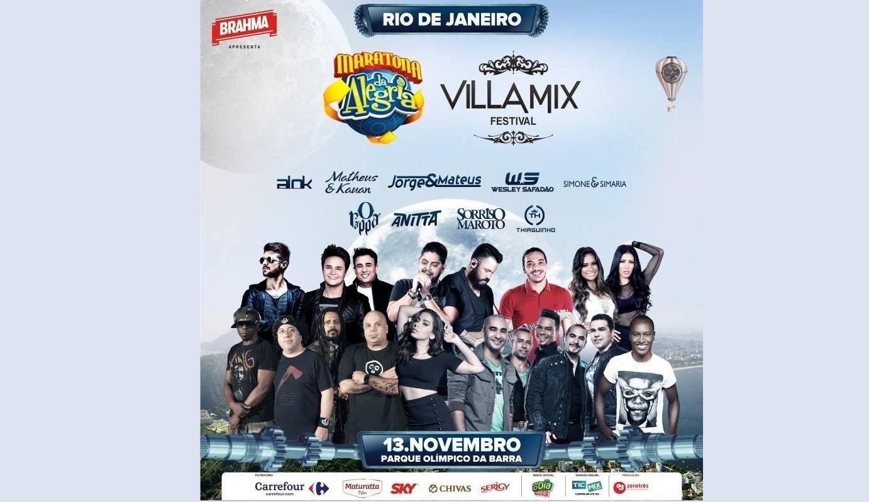 Maratona da Alegria Villa Mix Festival RJ será transmitida ao vivo pela internet neste domingo (13) 41