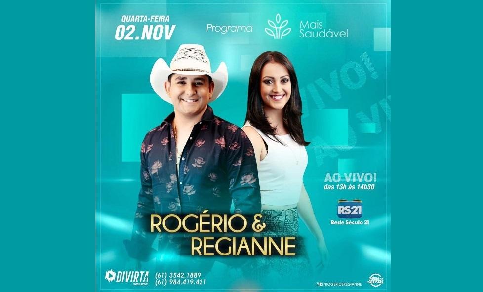 """Programa """"Mais Saudável"""" recebe a dupla Rogério & Regianne nesta quarta-feira (2) 41"""