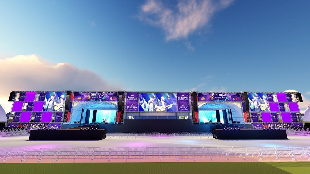 Camarotes maiores, palcos com várias inovações e tecnologia estão entre as novidades na estrutura do Ribeirão Country Fest 41