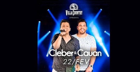 """Cleber & Cauan chegam ao Villa Country com a turnê """"Resenha"""" 41"""