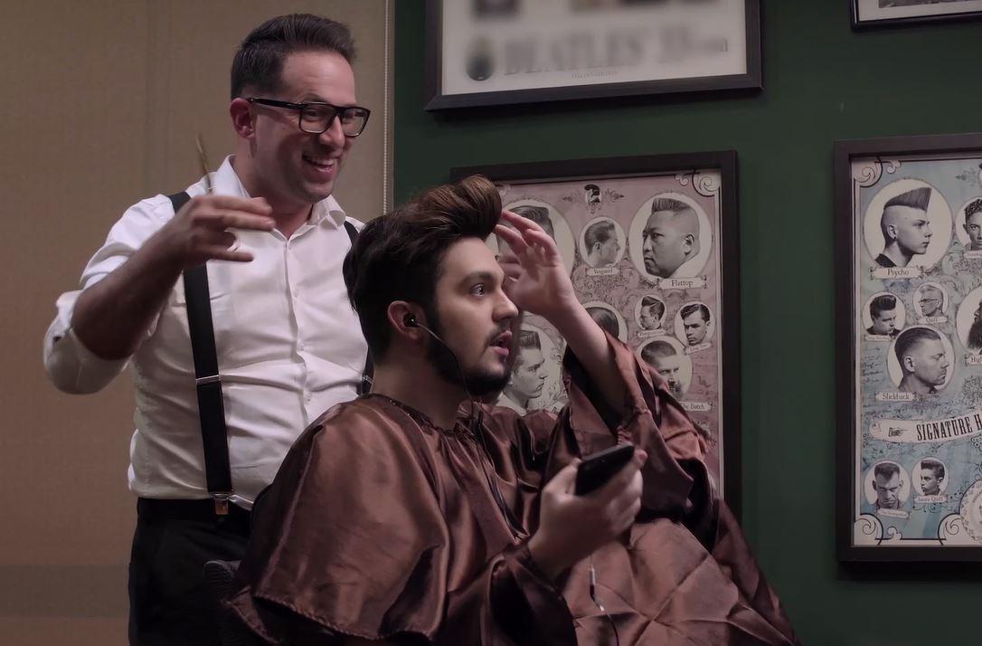 Luan Santana relembra cortes de cabelo em comercial da Som Livre 41
