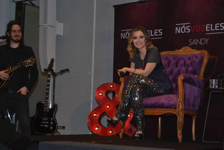Sandy participa de coletiva de imprensa em SP para lançamento do novo projeto 41