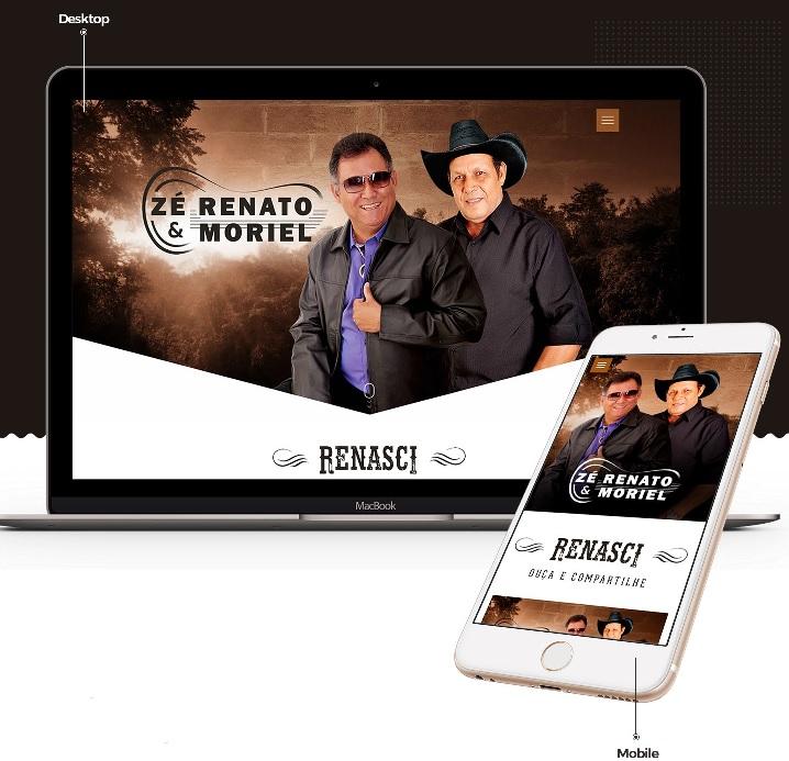 Divulgando seu terceiro álbum, Zé Renato & Moriel lançam novo site 41