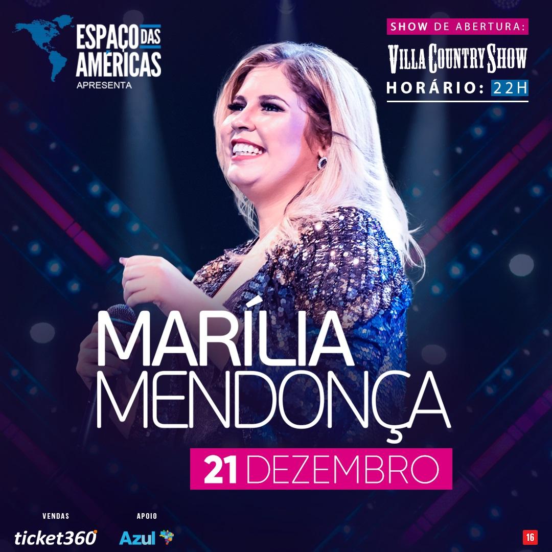 Marília Mendonça chega ao Espaço das Américas para mega-show 41
