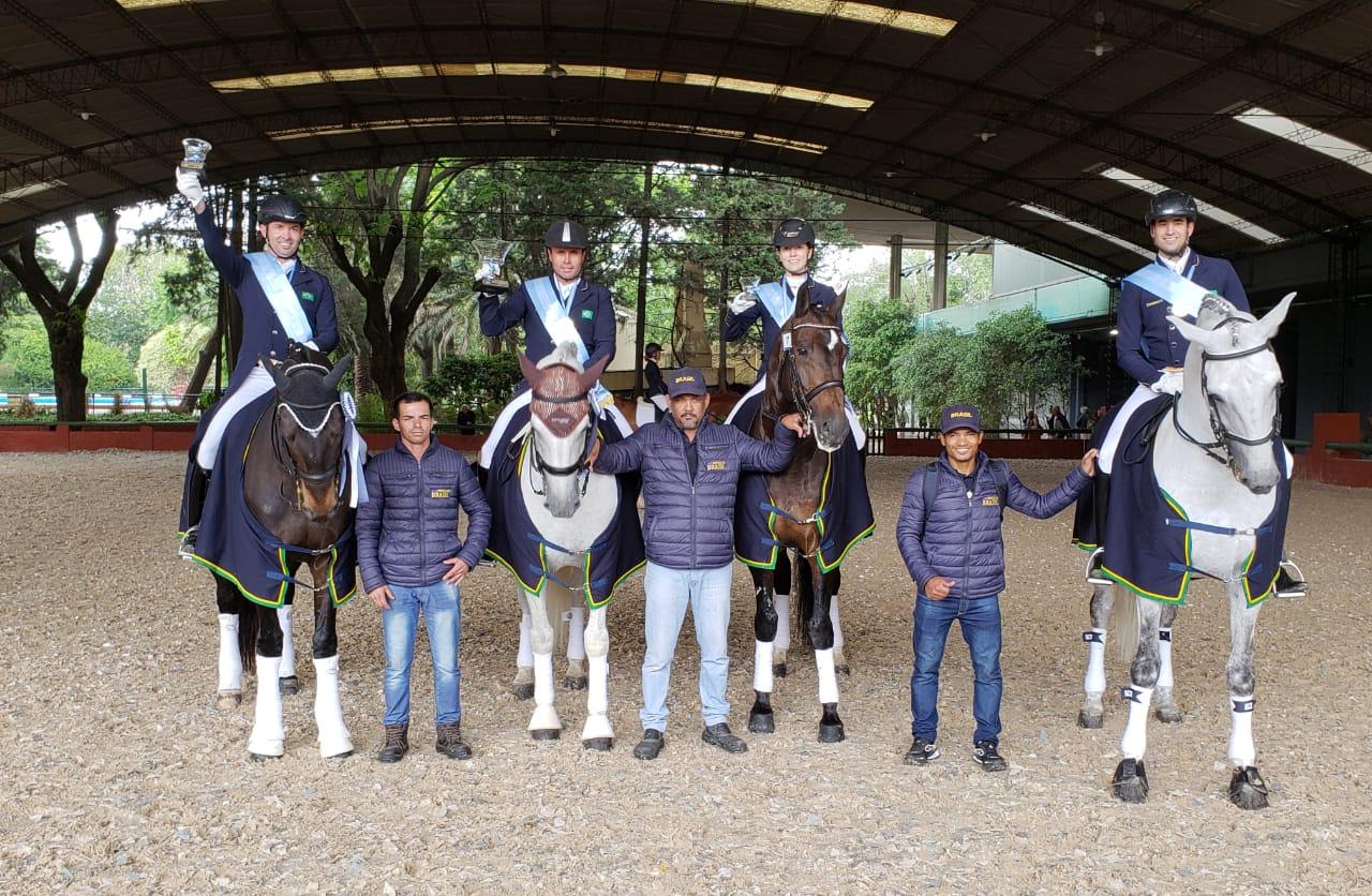 Time Brasil de Adestramento é campeão e de Salto, vice, na Argentina e garantem vaga no Pan 41