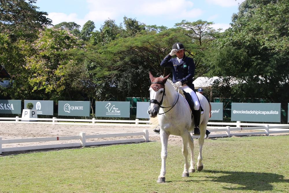 Com duas vitórias e mais um índice, João Paulo dos Santos segue firme rumo ao Pan de Adestramento 41