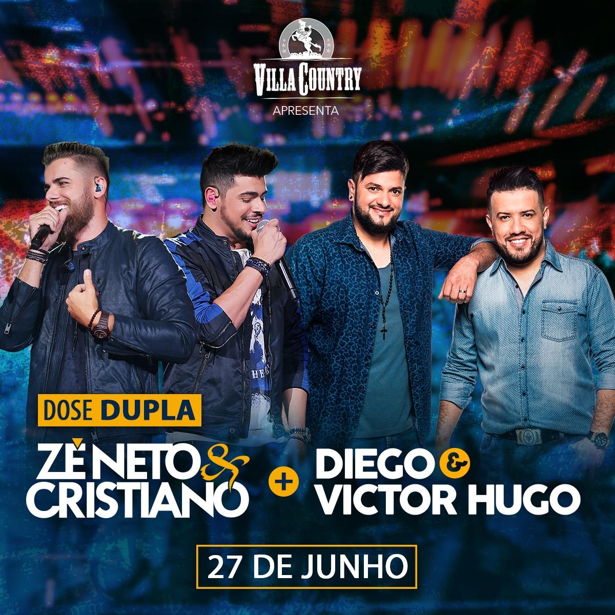 Zé Neto e Cristiano e Diego e Victor Hugo se apresentam no Villa Country 41