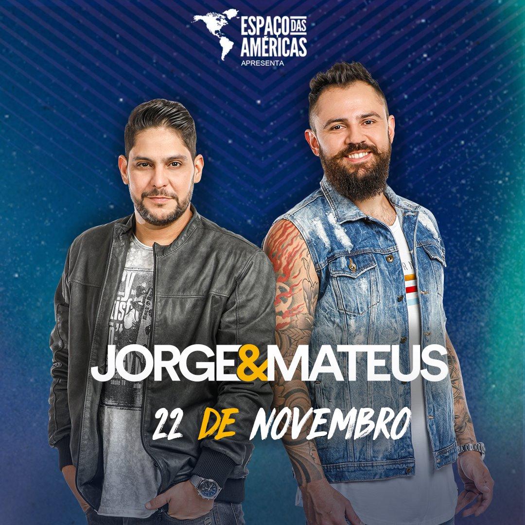 Jorge e Mateus voltam à São Paulo para show no Espaço das Américas 41