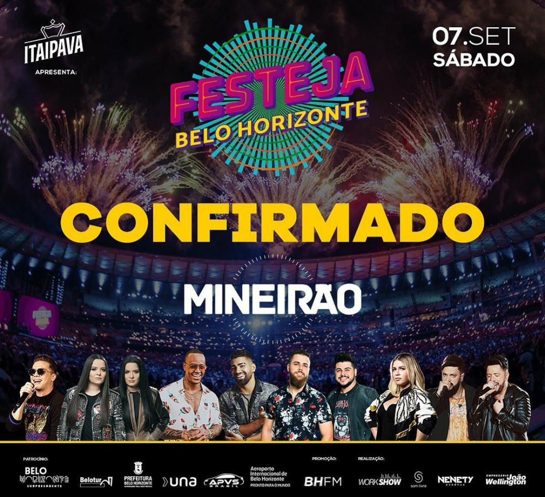 Confirmado: Festeja Belo Horizonte será realizado dentro do Mineirão 41
