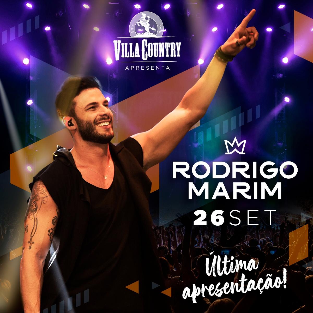 Rodrigo Marim faz show de despedida no Villa Country 41