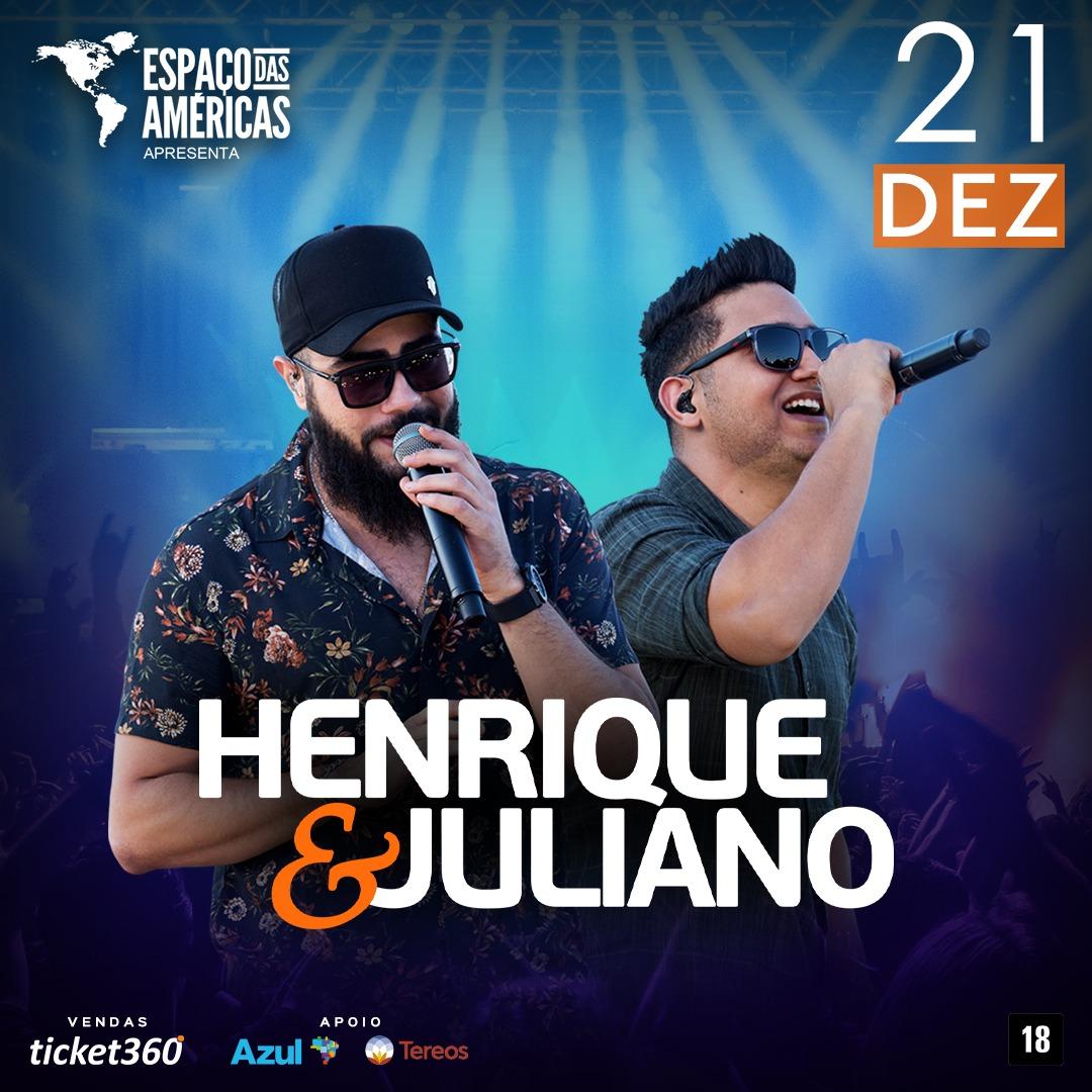 Espaço das Américas recebe a dupla Henrique e Juliano 41