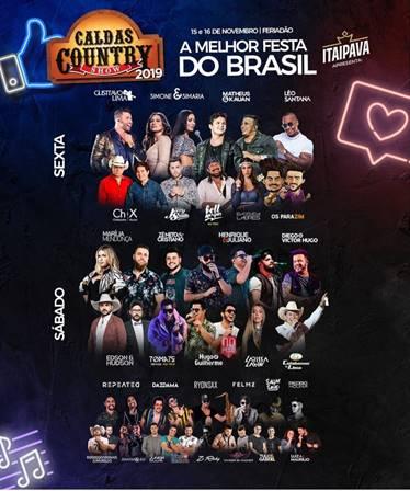 Caldas Country Show agita o último feriadão prolongado do ano com timaço de grandes artistas e público do Brasil todo 41