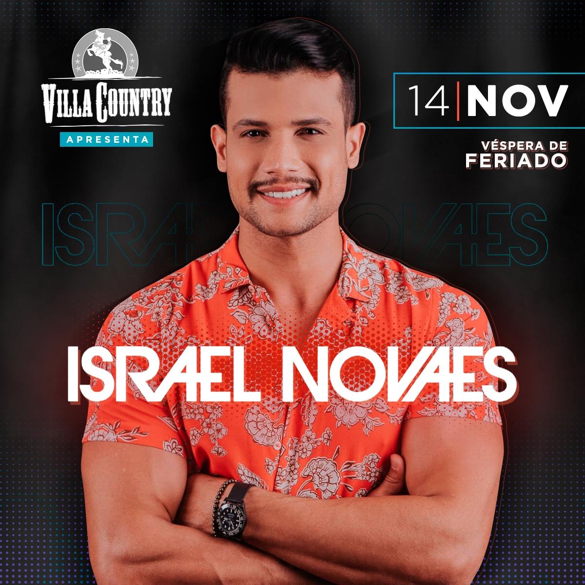 Israel Novaes mostra novos sucessos no Villa Country 41