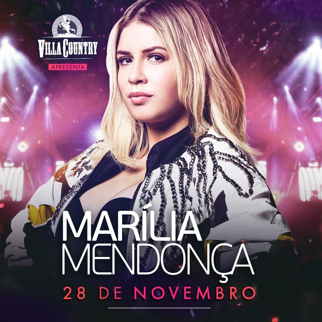 """Marília Mendonça chega com turnê do projeto """"Todos os Cantos"""" no Villa Country 41"""