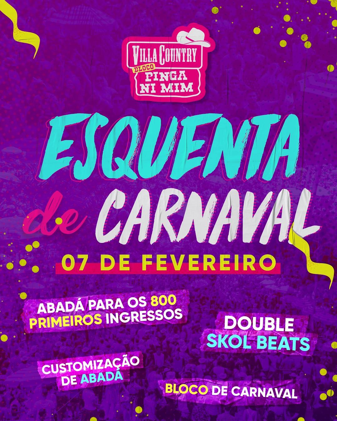 Esquenta de Carnaval anima a noite do Villa Country 41