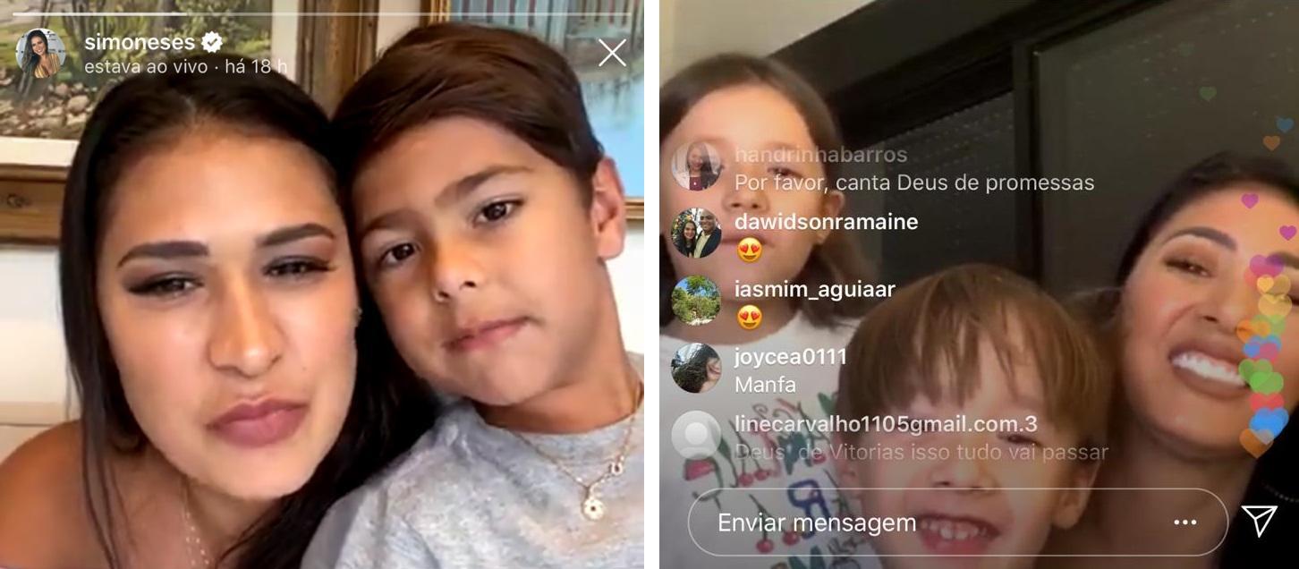 Simone e Simaria realizam a primeira Live juntas na quarentena e filhos interagem para a surpresa dos fãs 41