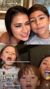 Simone e Simaria realizam a primeira Live juntas na quarentena e filhos interagem para a surpresa dos fãs 42