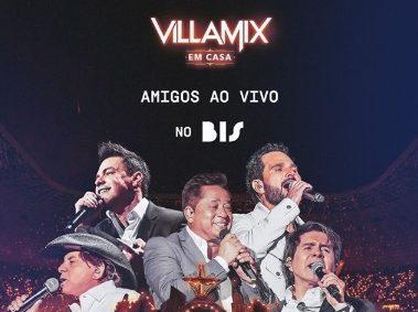 """VillaMix em Casa: live reunirá o projeto """"Amigos"""" para um ato de solidariedade com transmissão ao vivo no Canal BIS 41"""