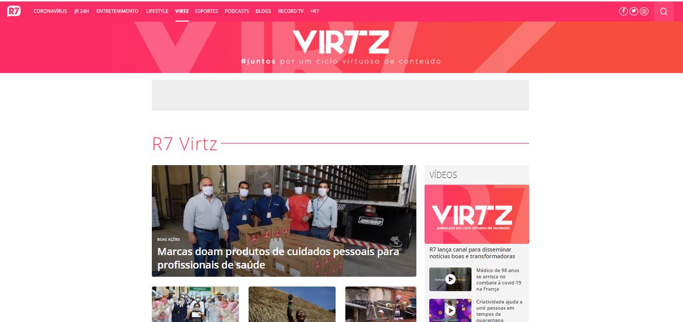 R7 lança o canal 'Virtz' para disseminar notícias positivas, reais e transformadoras promovendo o bem-estar e a saúde mental 41