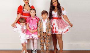 Simone e Simaria alcançam 1° lugar no Youtube com live junina ao lado da família 3