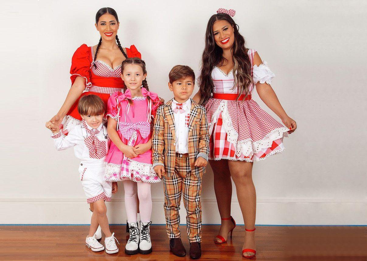 Simone e Simaria alcançam 1° lugar no Youtube com live junina ao lado da família 41