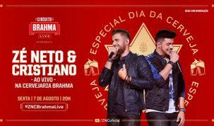 Alô, Ambev': No Dia Internacional da Cerveja, Brahma e Zé Neto e Cristiano confirmam live dentro da cervejaria 1