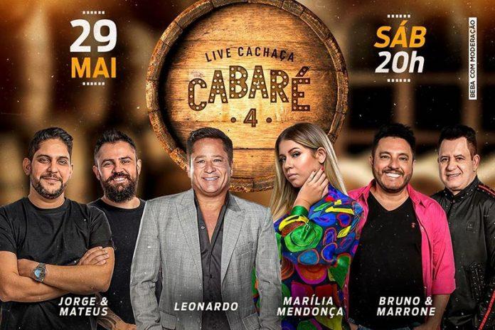 Quarta edição da live Cachaça Cabaré reúne, pela primeira vez Leonardo, Bruno & Marrone, Jorge & Mateus e Marília Mendonça 41