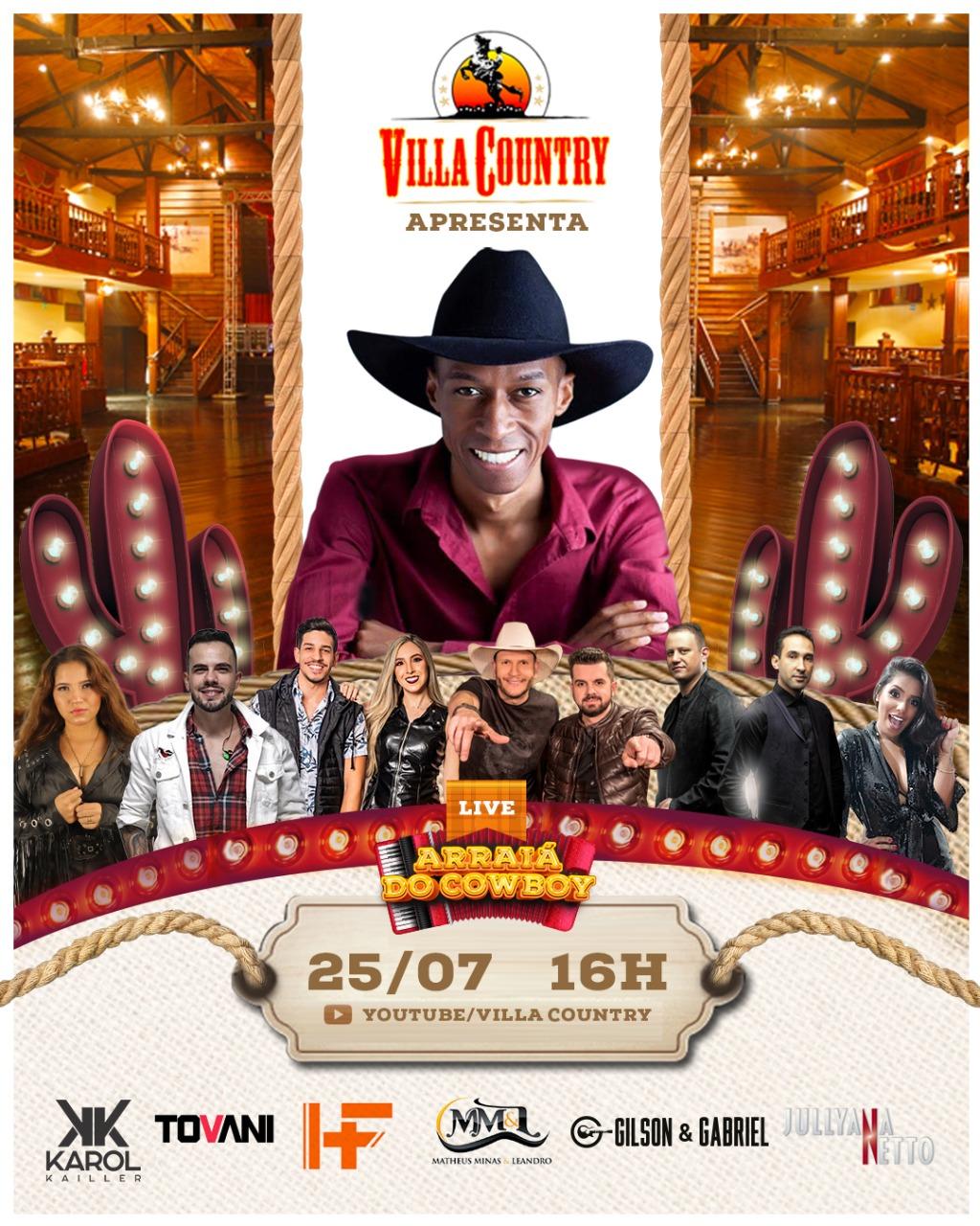 Villa Country apresenta Live Arraiá do Cowboy sob comando de Everton Neguinho 41