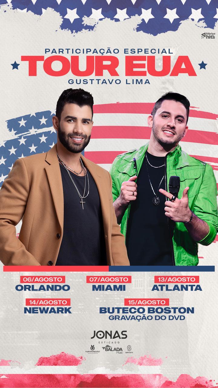 """Jonas Esticado agita a turnê """"O EMBAIXADOR Tour USA 2021"""" ao lado de Gusttavo Lima 42"""